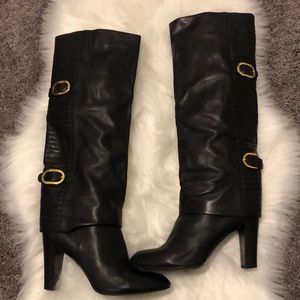 Sergio Rossi Knee High Leather Boots